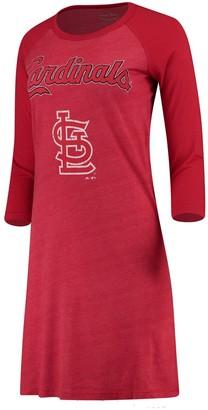 Majestic Women's Threads Red St. Louis Cardinals Tri-Blend 3/4-Sleeve Raglan Dress