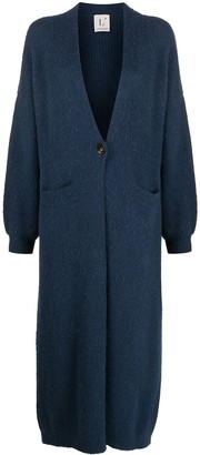 L'Autre Chose Long-Line Buttoned Cardi-Coat