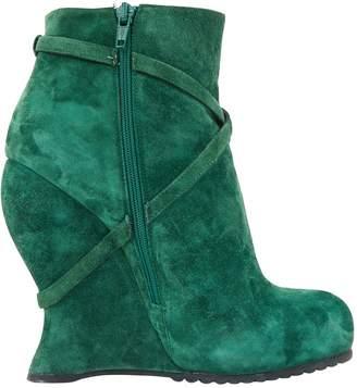 Bottega Veneta \N Green Suede Boots