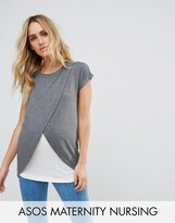 Asos Maternity - Nursing Asos Maternity Nursing T-Shirt With Wrap Overlay