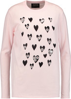 Markus Lupfer Natalie embellished intarsia-knit cotton sweater