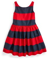 Ralph Lauren Striped Cotton Sateen Dress