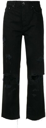 Amiri Thrasher crop straight minimal jeans