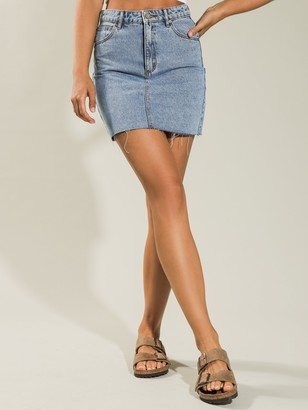 A Brand LA Skirt in Denim