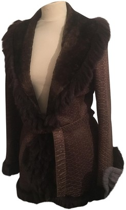 Yves Salomon Brown Mink Coat for Women Vintage