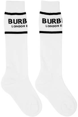Burberry White Logo Socks