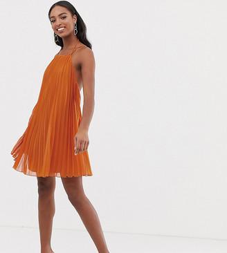 Asos Tall DESIGN Tall mini trapeze pleat dress-Multi