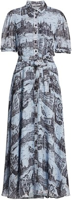 Derek Lam 10 Crosby Faye Print Shirtdress