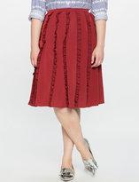 ELOQUII Plus Size Gathered Ruffle Skirt