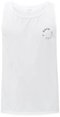 7 Days Active - Logo-print Jersey Tank Top - White