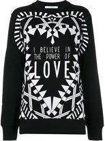 Givenchy I Believe In The Power Of Love Sweatshirt - women - Cotton - XS