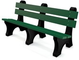 Colonial Recycled Plastic Park Bench Frog Furnishings Size: 6', Color: Green, Mounting Type: None