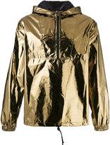 Saint Laurent metallic hooded anorak