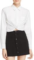 Alexander Wang Twist-Front Shirt