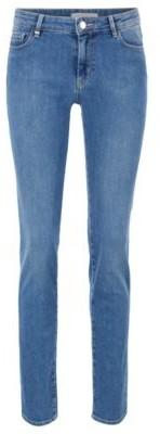 BOSS Slim-fit jeans in comfort-stretch blue denim