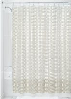 """InterDesign Addie Decorative PEVA 3G Shower Curtain Liner, PVC-Free, Mold & Mildew Resistant, Odorless, No Chemical Smell - 72"""" x 72"""", Gold"""
