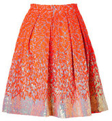 Matthew Williamson Sequined Brocade Skirt in Fluro Orange