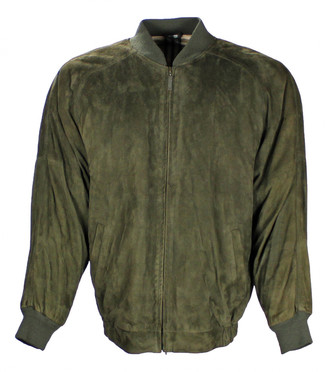 Burberry Green Suede Jackets