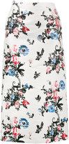 Valentino Enchanted Jungle brocade pencil skirt - women - Linen/Flax/Cotton/Silk/Metallic Fibre - 38