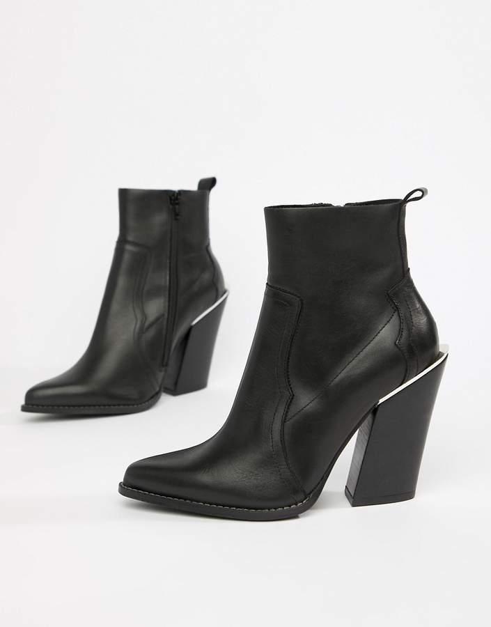 5fc472d9d680 Asos Leather Women's Boots - ShopStyle