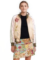 Cynthia Rowley Reversible Satin Bomber Jacket