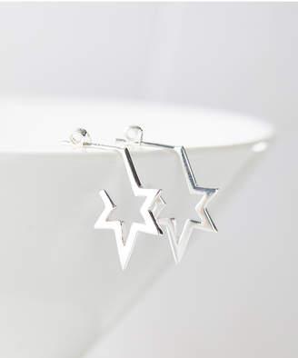 A&M Women's Earrings Sterling - Sterling Silver Star Drop Earrings