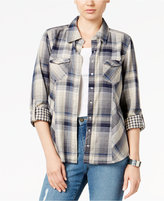 Style&Co. Style & Co. Petite Mixed-Print Plaid Shirt, Only at Macy's