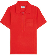 Frame Wool And Cashmere-blend Polo Shirt - Tomato red