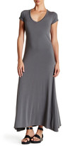 C&C California Harmony V-Neck Maxi Trapeze Dress