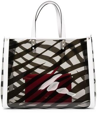 Valentino Small Zebra-Print Tote Bag