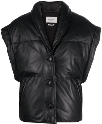 Etoile Isabel Marant Keyson padded leather gilet