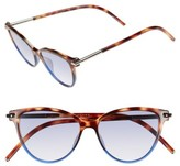Marc Jacobs Women's 53Mm Cat Eye Sunglasses - Havanabrownblue