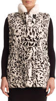 Gorski Leopard-Print Reversible Mink Fur Vest