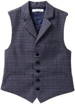Isaac Mizrahi Plaid Waistcoat (Big Boys)