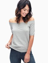 Splendid French Terry Off The Shoulder Top