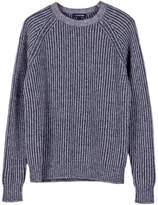 Ribbed Cashmere Pullover Sweater