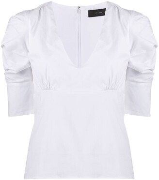 FEDERICA TOSI ruched short-sleeve Tee