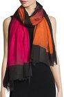 faliero sarti mika colorblock wool scarf pinkorange