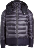 Moncler Quilted Down Jacket with Wool
