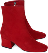 Dorateymur Red Suede Sybil Ankle Boots