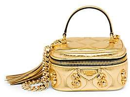 Moschino Women's Dollar Sign Embellished Top Handle Bag