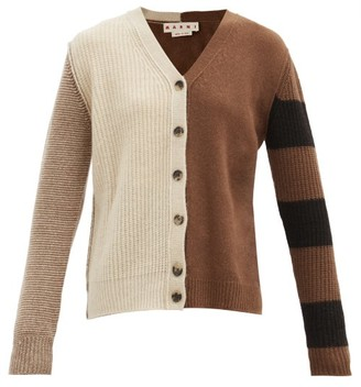 Marni Panelled Cashmere-blend Cardigan - Multi