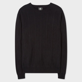 Paul Smith Men's Black Wool And Cotton-Blend Cactus Jacquard Sweater