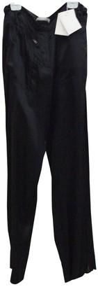 Nicole Farhi Black Silk Trousers for Women