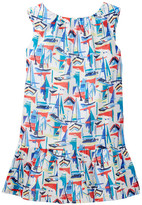 Milly Minis Drop Waist Ruffle Dress (Big Girls)