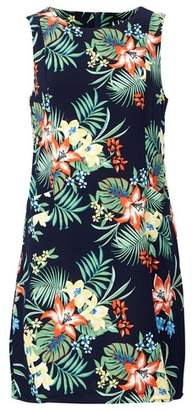 Dorothy Perkins Womens *Izabel London Navy Tropical Print Dress, Navy