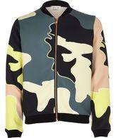 River Island Girls khaki camo bomber jacket