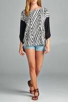Cherish Serpentine Striped Top