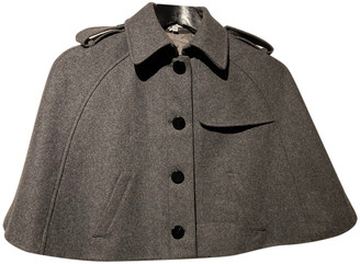 American Retro Grey Wool Coats