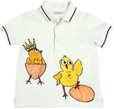 Dolce & Gabbana Chicks Printed Cotton Piqué Polo Shirt